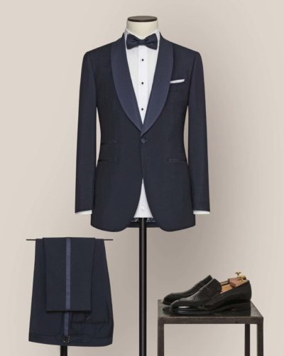 Tailor-made wedding suit by Alferano