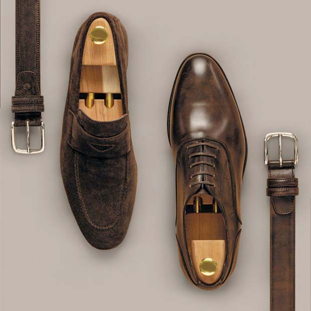 Made-to-measure shoes and belts by Alferano